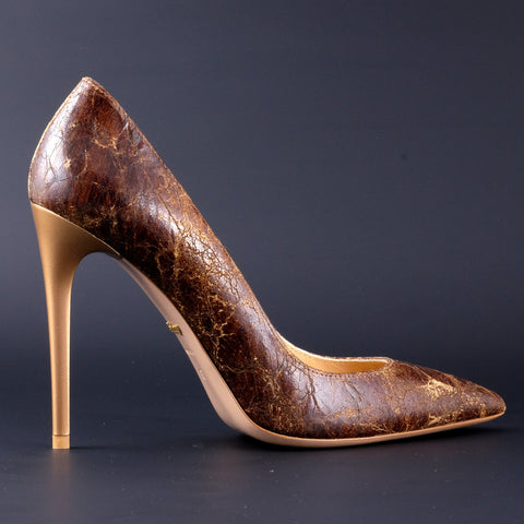 Chalany Popular Heels Collection - Ancient Brown (Leather)