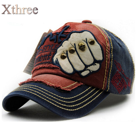 XTHREE  Fashion and Trendy Baseball Cap Cotton Casual Unisex