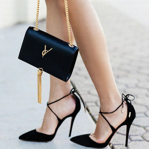 Janet Lace Up High Heels