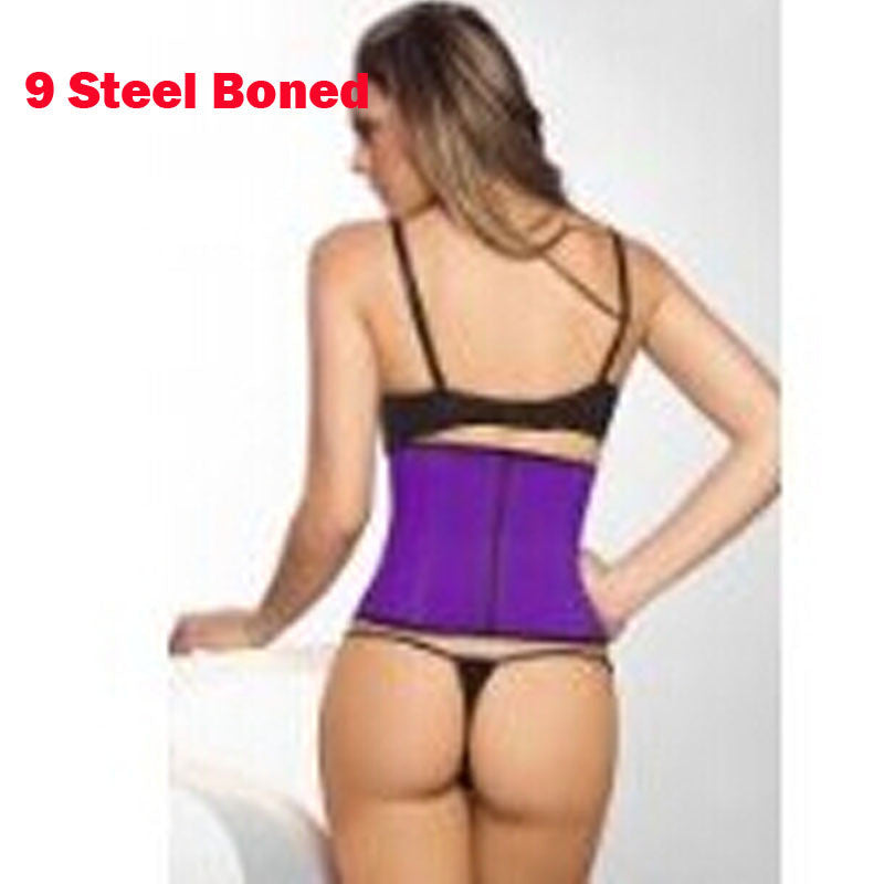 124acc2704 ... High Quality and Popular 100% Latex Waist Trainer 9 Steel Bone Burn Fat  Body Shaper ...