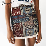 NEW 2017 High Waist Vintage Sexy Mini Skirt Bottom Short Boho Style Chic Pencil