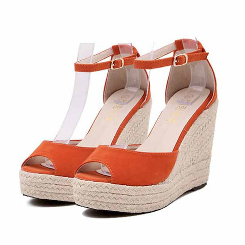 NEW 2017 Fashion Superior Quality Comfortable Bohemian Wedges Women Sandals High Platform Open Toe