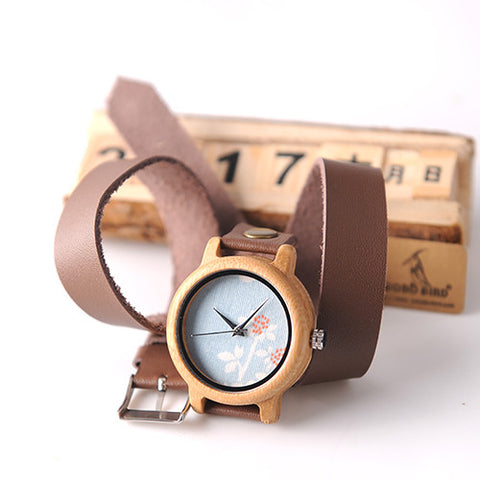 NEW Handmade Women Unique Wood Watch With Quartz Movement