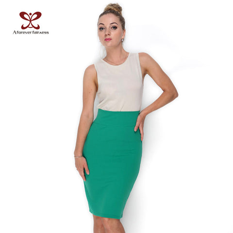 NEW 2017 Women Skirt Pencil With High Waist Tight and Slim