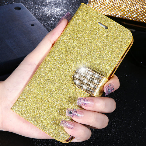 Luxury Bling Flip Case For iPhone