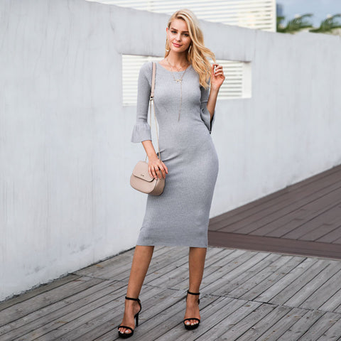 Theresa Butterfly Sleeve Sweater Dress