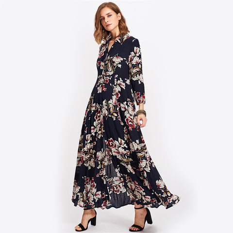 7b583a947ebd74 Amy Flower Print Dress – Status Q