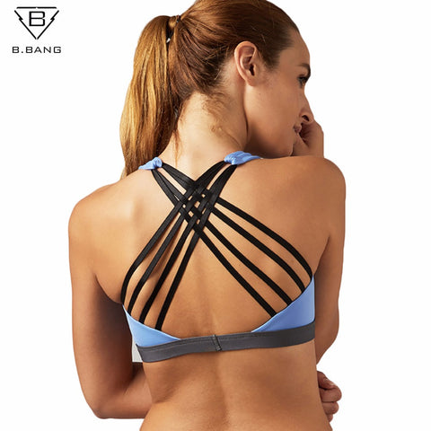 NEW 2017 Women Sports Bra Yoga Shirt with Padding Push Up Dry Quick Tank Top