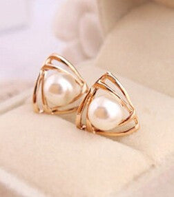 Jewelry sweet and romantic and lovely and generous temperament imitation pearl earrings
