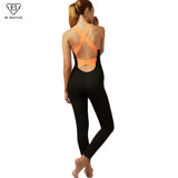 NEW 2017 Women Sexy Backless One-piece Sportswear Yoga Sets Leggings Gym Fitness Clothing Suit for Women