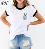 NEW 2017 Summer Fashion Women T-Shirt Funny Pocket Panda Print