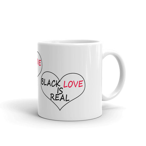 Black Love Is Real Mug - Lane Apparel INC