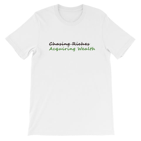Acquiring Wealth T-Shirt - Lane Apparel INC