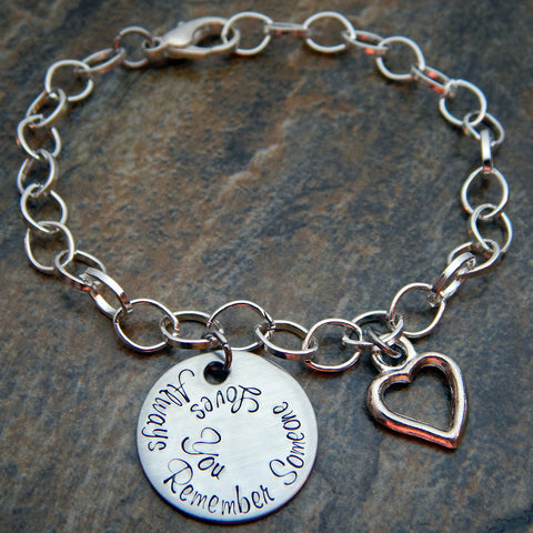 Personalized Charm Bracelet with Custom Disc and Charm