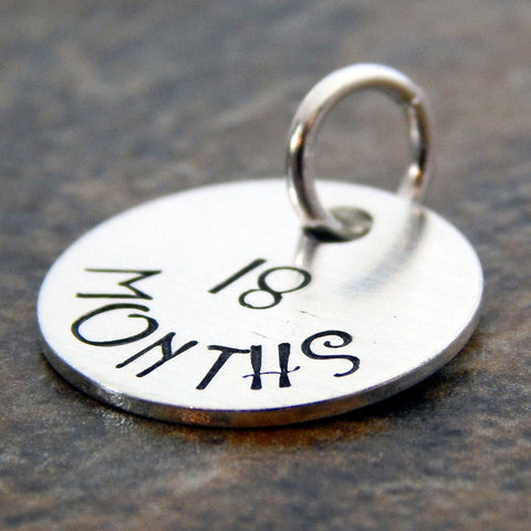 Sterling Silver Milestone Tags for Breastfeeding Necklace