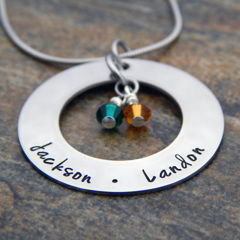 mother's pendant necklace personalized