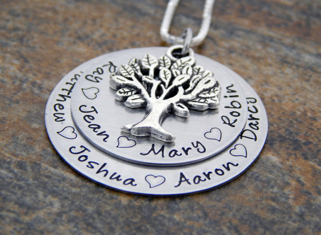 gift personalized of tree initials mothers family jewelry life pearl grandmother necklace silver day copy