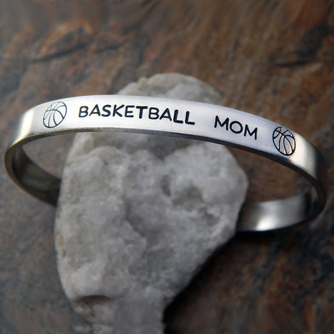 basketball mom cuff bracelet
