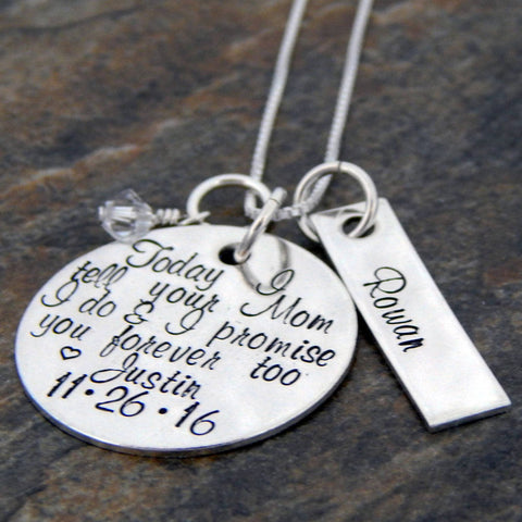 Personalized Gift for Future Step Daughter, Sterling Silver Necklace