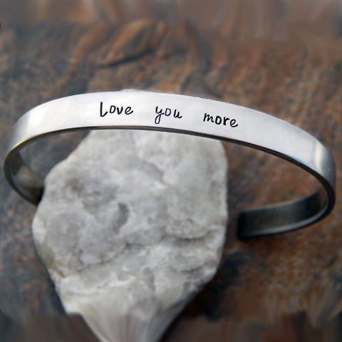 Love You More Cuff Bracelet