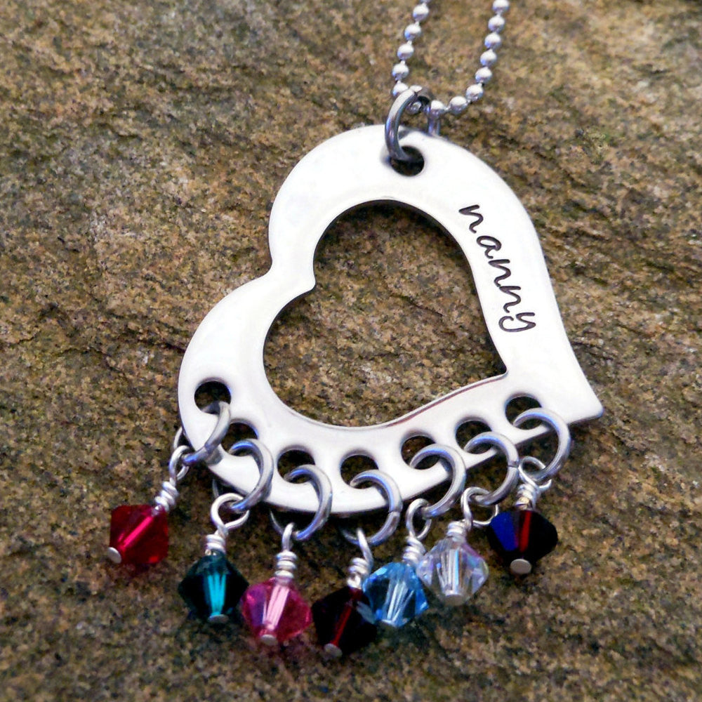 grandmother birthstone necklace
