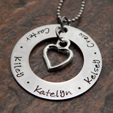 Mommy Necklace with Names | Kids Names Necklace