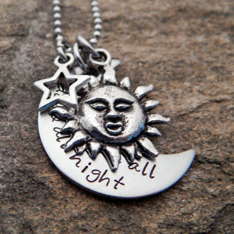 Sun, Moon, and Star Necklace - Personalized Jewelry
