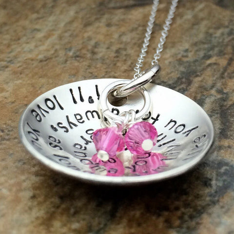 i'll love you forever necklace sterling silver