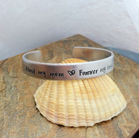 Personalized Mother's Cuff Bracelet | Hand Stamped