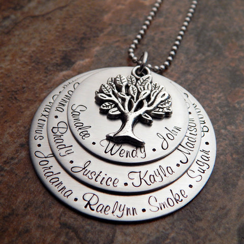 family tree necklace for grandmother