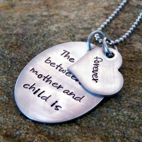 The love between mother and child is forever Necklace
