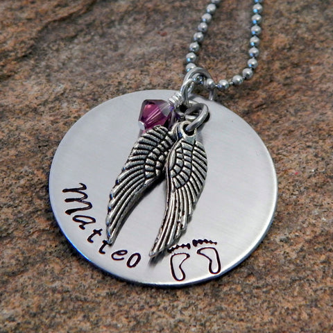 personalized remembrance necklace