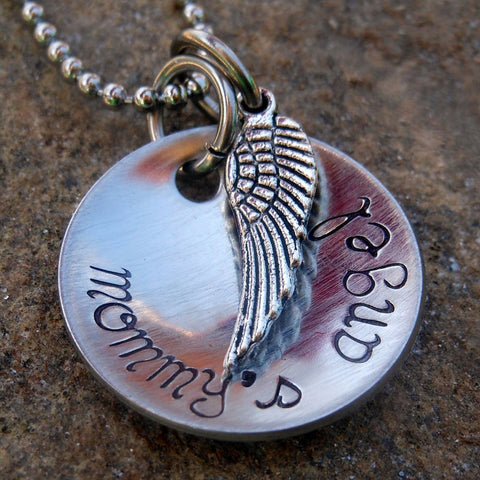 necklace with angel wing