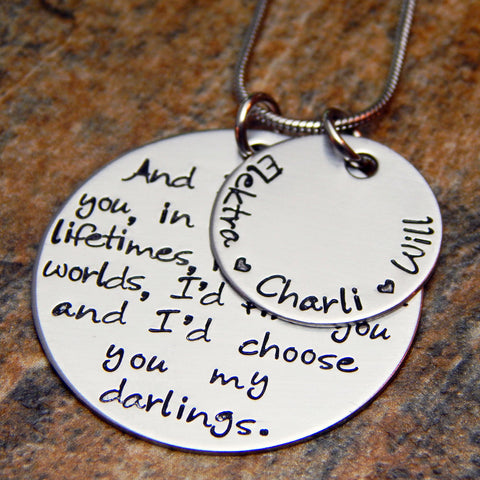 mother quote necklace