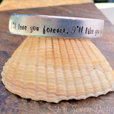 love you forever like you for always bracelet