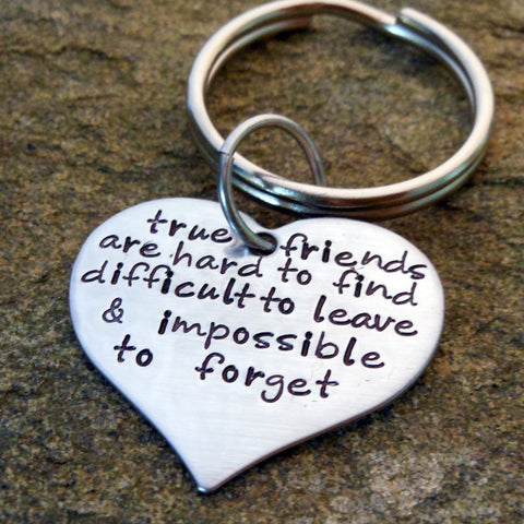 Personalized Heart Keychain - Custom Quote