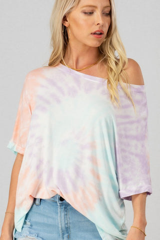 COTTON CANDY SWIRL TOP