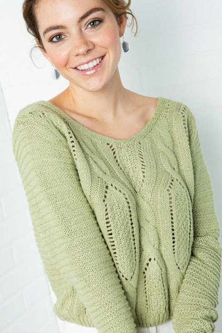 CROPPED BRAIDED SWEATER