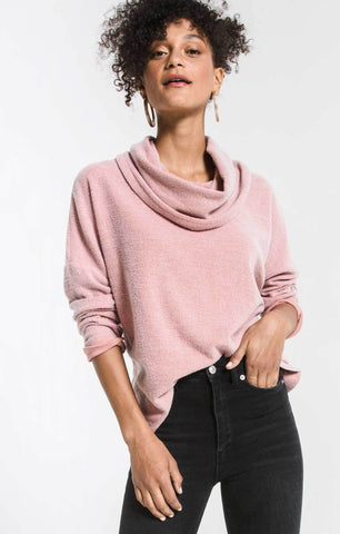 FLEECE SCALLOP BK TOP