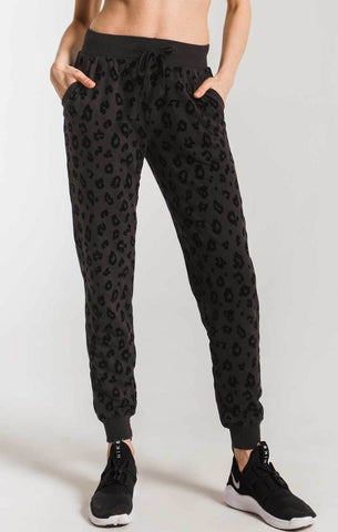ANIMAL FLOCKED JOGGER