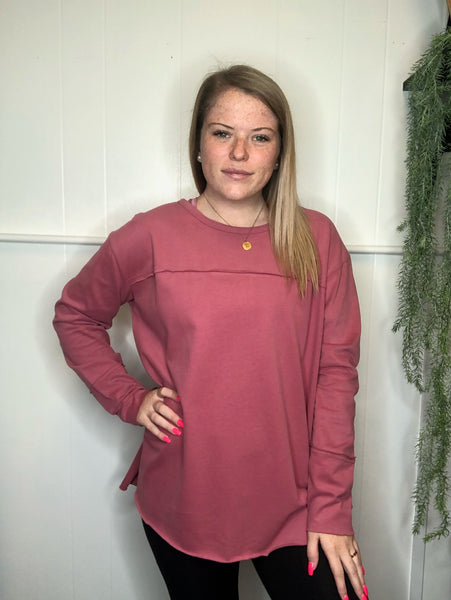 ANSLEY SOFT BRUSHED COZY TOP