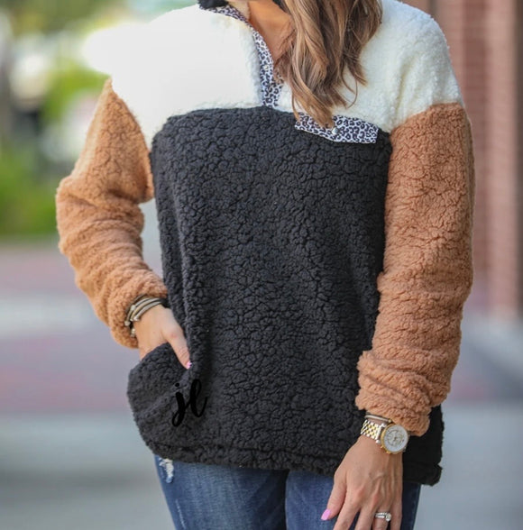 GRAHAM COLOR BLOCK PULLOVER