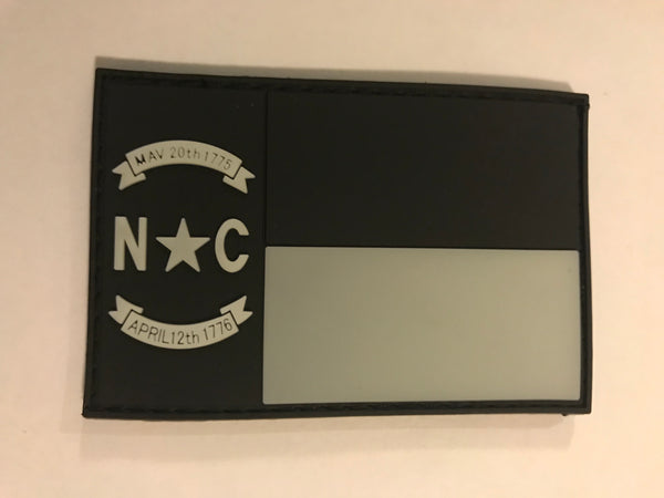 NC Flag Glow PVC Patch - H2O Rescue Gear