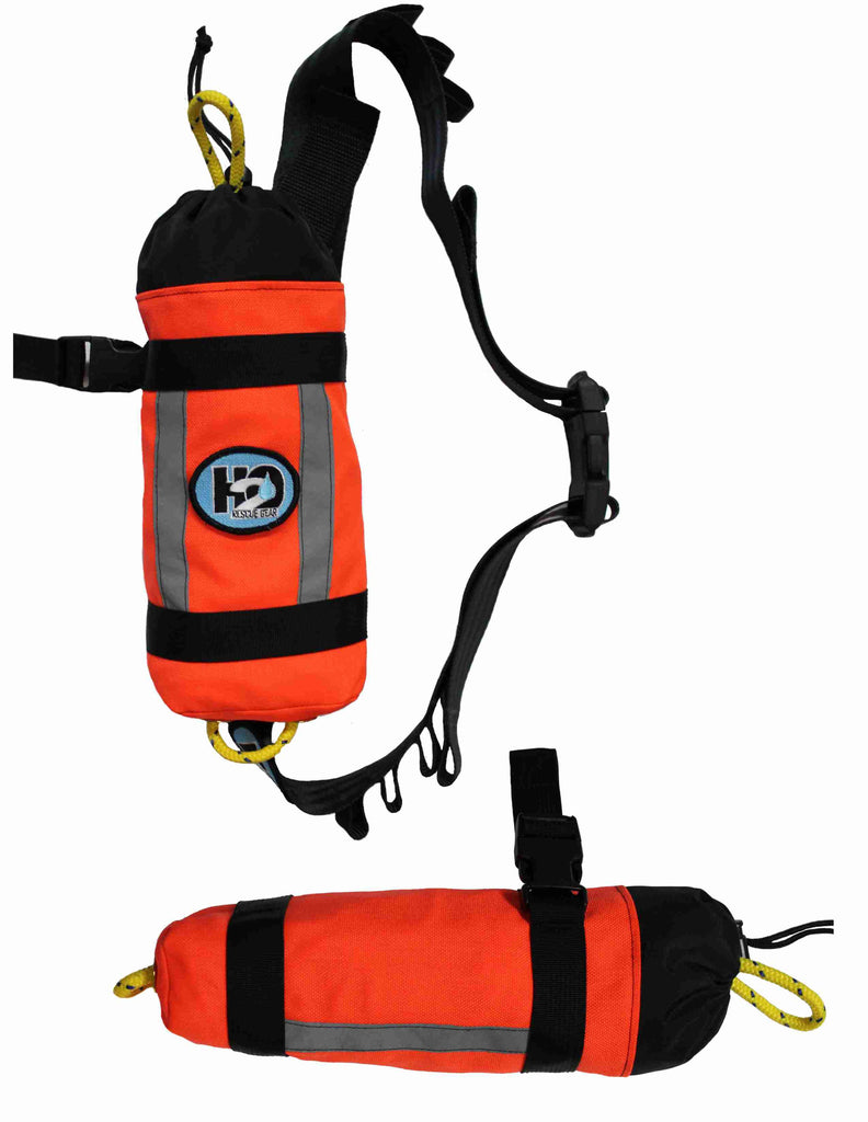 "The Side Arm throw bag is our most compact, waist worn throw bag.  It holds either 50' of 5/16"" Waterline or 75' of 1/4"" Ultraline."