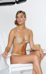 ROMANCE BRALETTE IN TAUPE