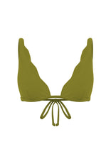 SCALLOPED BRALETTE IN PALM