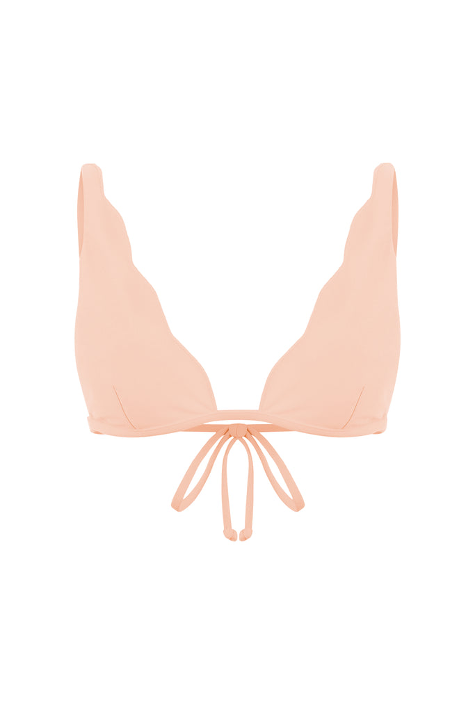 SCALLOPE BRALETTE IN PEACH