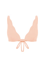 SCALLOPED BRALETTE IN PEACH