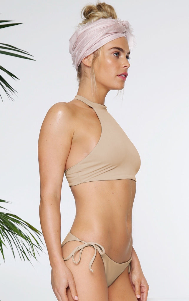SPORTIF TOP IN TAUPE