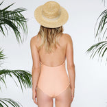 MALIBU MAILLOT IN PEACH